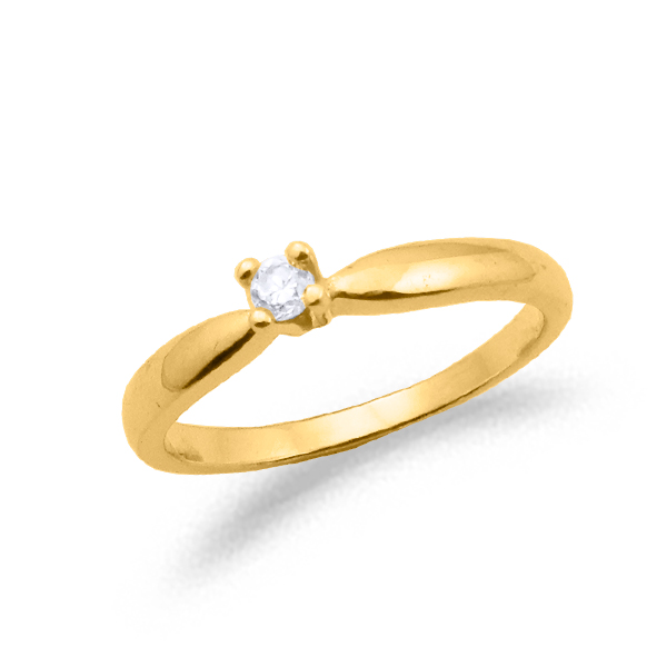 SOLITARIO ORO Y DIAMANTE 0.07ct MODELO 29700