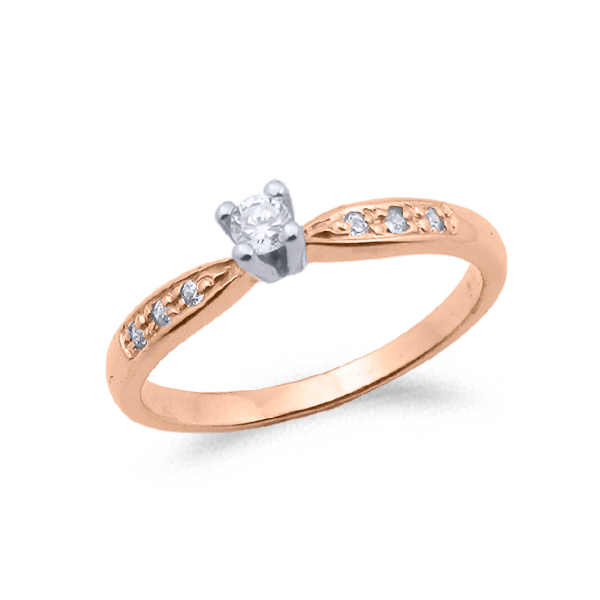 SORTIJA ORO Y DIAMANTES (0.16ct TOTAL) MODELO 29709