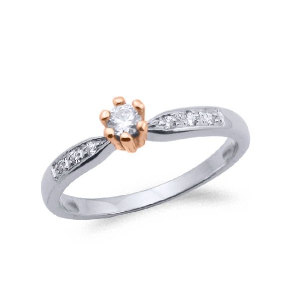 SORTIJA ORO Y DIAMANTES (TOTAL 0.16ct) MODELO 29740