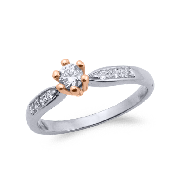 SORTIJA ORO Y DIAMANTES (TOTAL 0.24ct) MODELO 29741