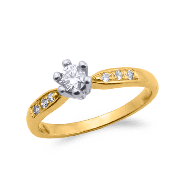 SORTIJA ORO Y DIAMANTES (TOTAL 0.32ct) MODELO 29742
