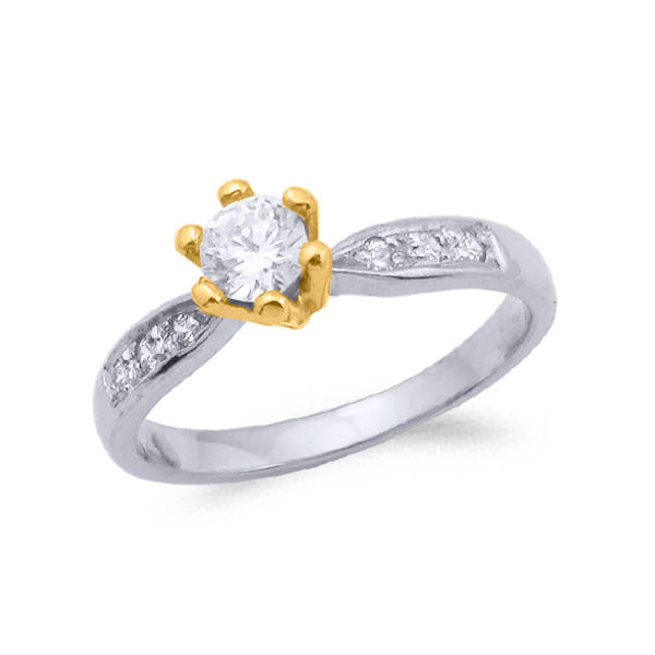 SORTIJA ORO Y DIAMANTES (TOTAL 0.37ct) MODELO 29743
